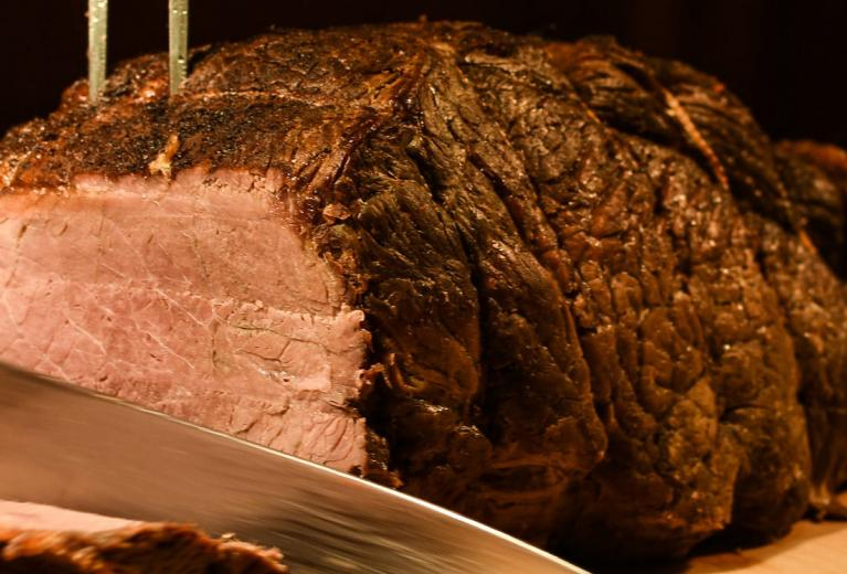 Joint of roast beef